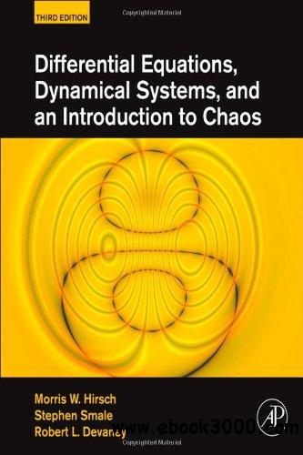 Differential Equations, Dynamical Systems, and an Introduction to Chaos, 3 edition free download