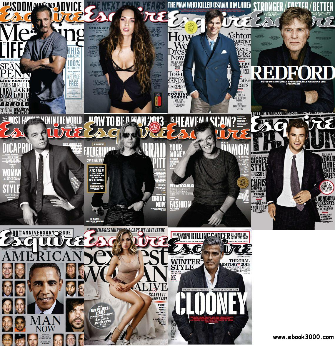 Esquire USA - Full Year 2013 Issues Collection free download