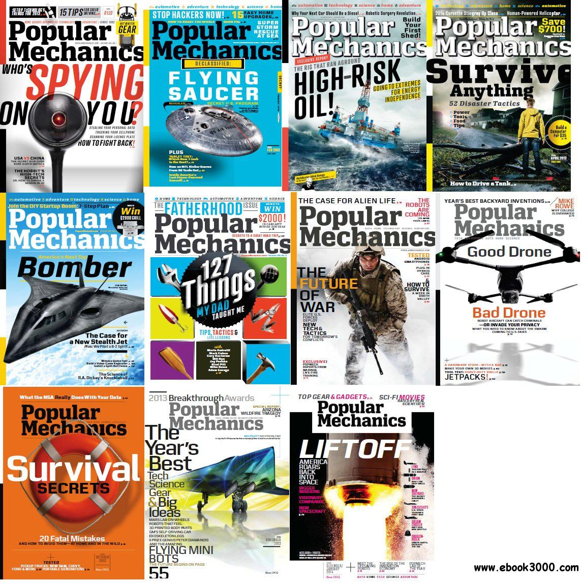 Popular Mechanics USA - Full Year 2013 Issues Collection free download