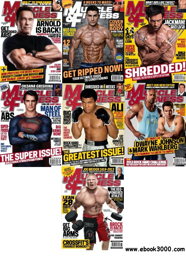 Muscle & Fitness UK - Full Year 2013 Issues Collection (All True PDF) free download