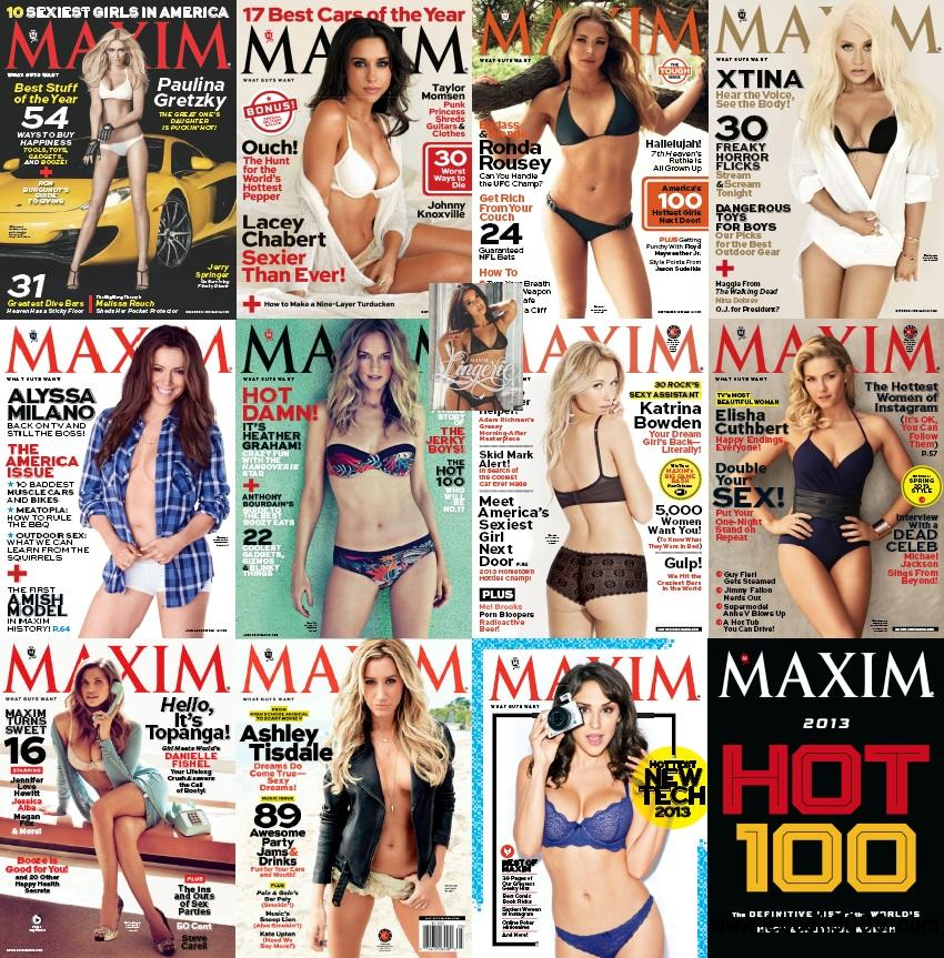 Maxim USA Full Year 2013 Issues Collection (All True PDF) free download