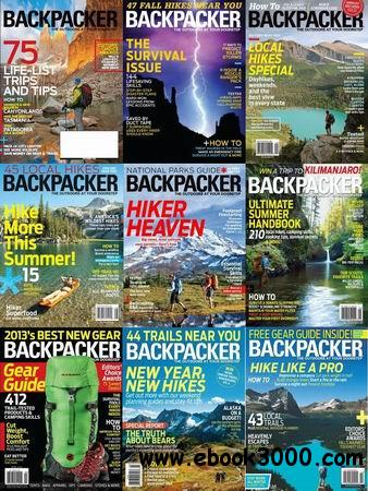 Backpacker Magazine 2013 Full Collection free download