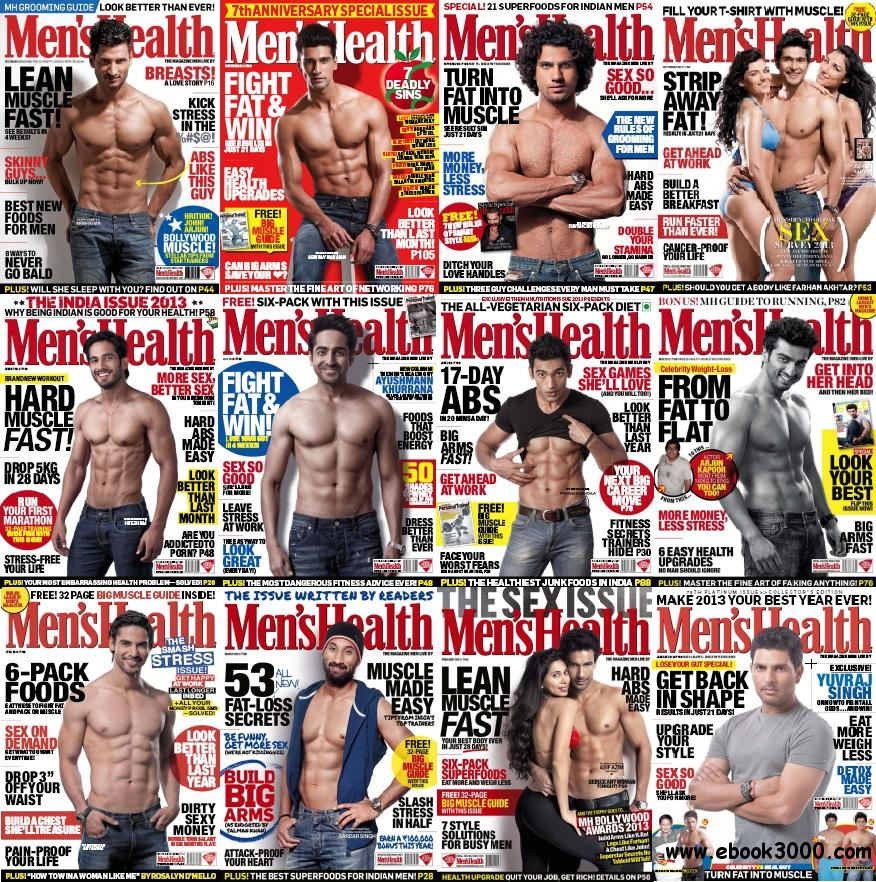 Men's Health India 2013 Full Collection (All True PDF) free download