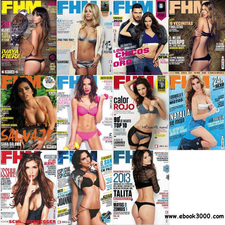 FHM Spain - Full Year 2013 Issue Collection free download