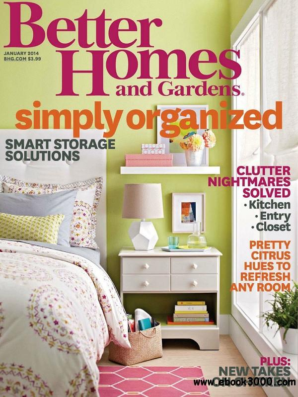 Better Homes And Gardens January 2014 Usa Free: better homes and gardens download