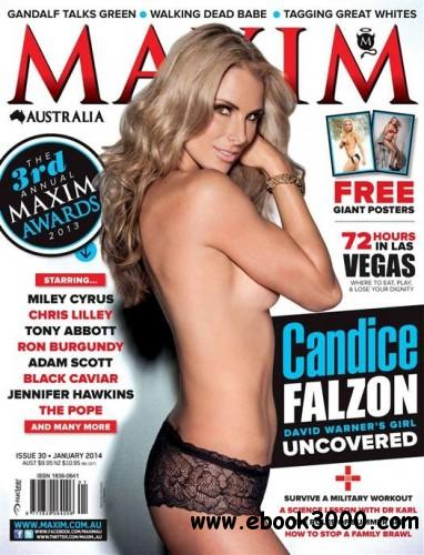 Maxim Australia - January 2014 free download