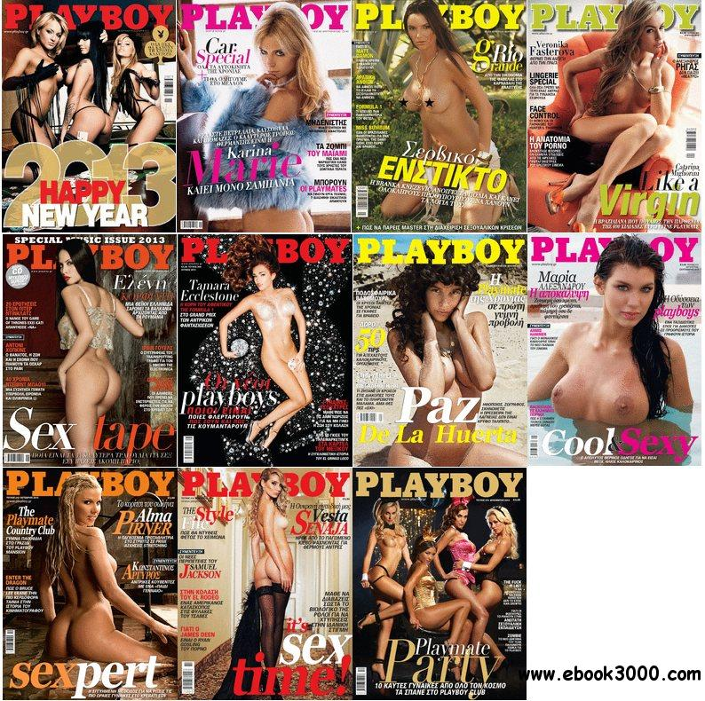 Playboy Greece - Full Year 2013 Issue Collection free download