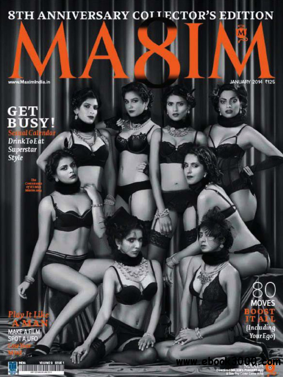 Maxim India - January 2014 free download