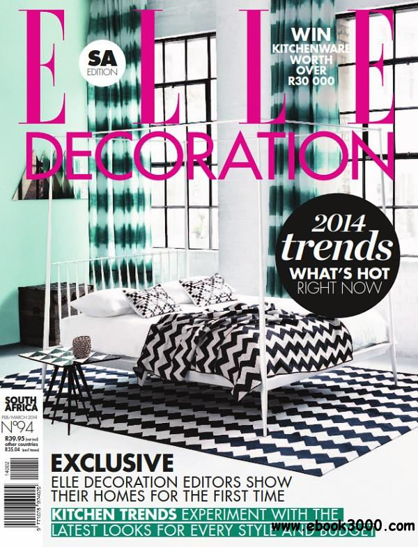 ELLE Decoration South Africa - February/March 2014 free download
