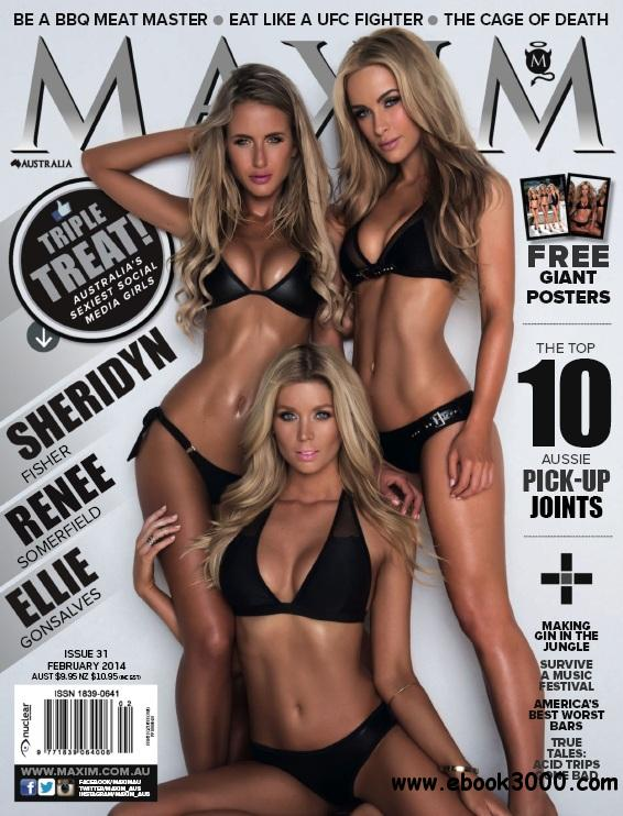 Maxim Australia - February 2014 free download