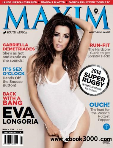 Maxim South Africa - March 2014 free download