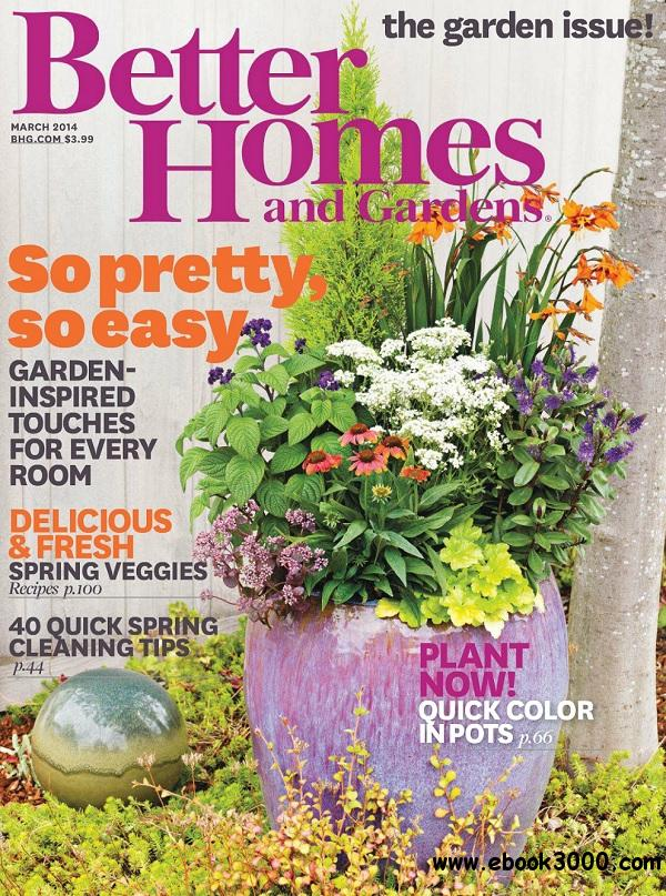 Better Homes And Gardens March 2014 Usa Free Download