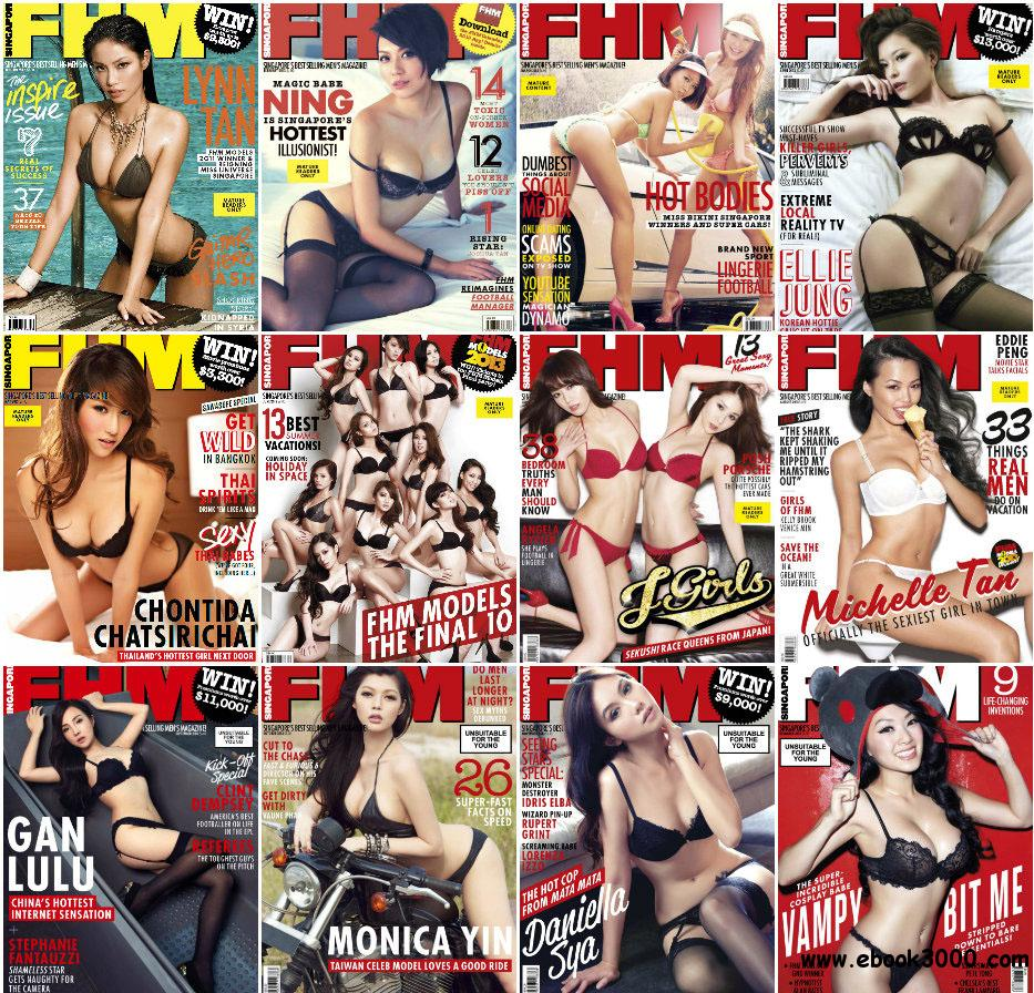 FHM Singapore - Full Year 2013 Issues Collection free download