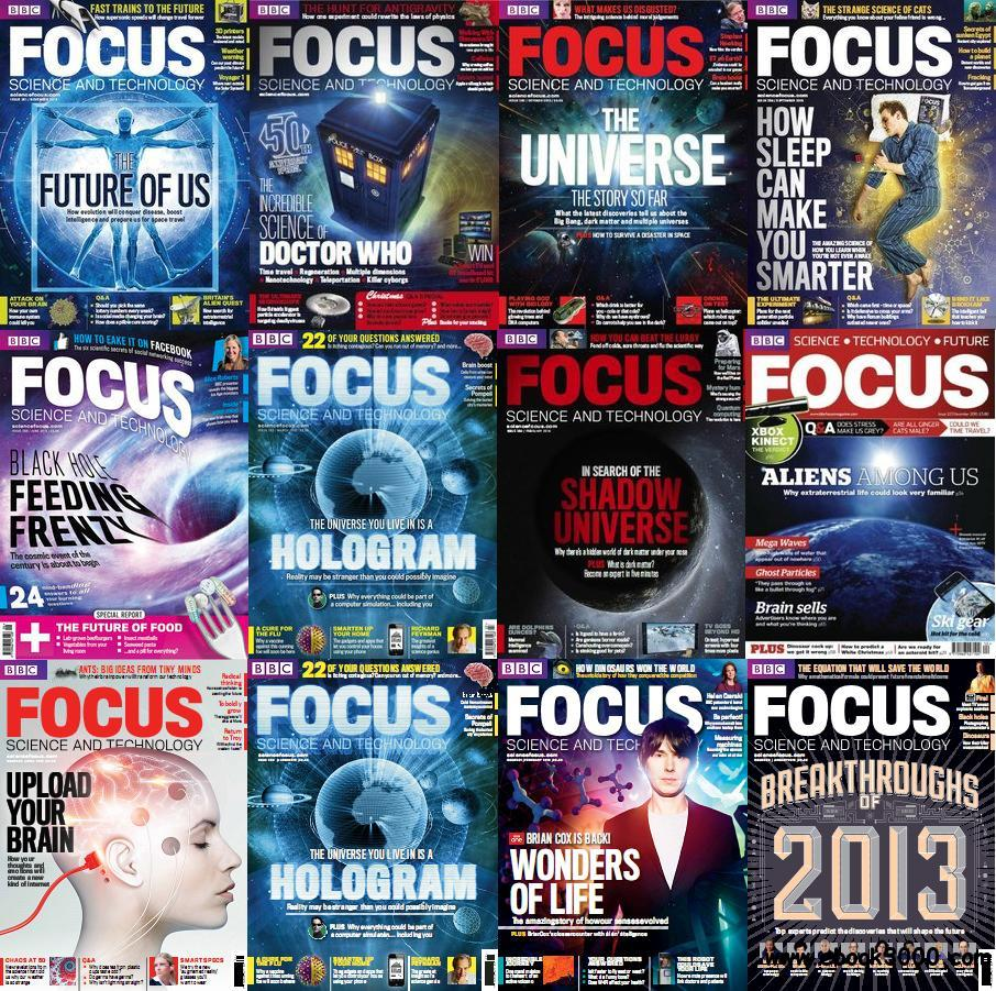 BBC Focus - Science & Technology Magazine 2013 Full Collection free download