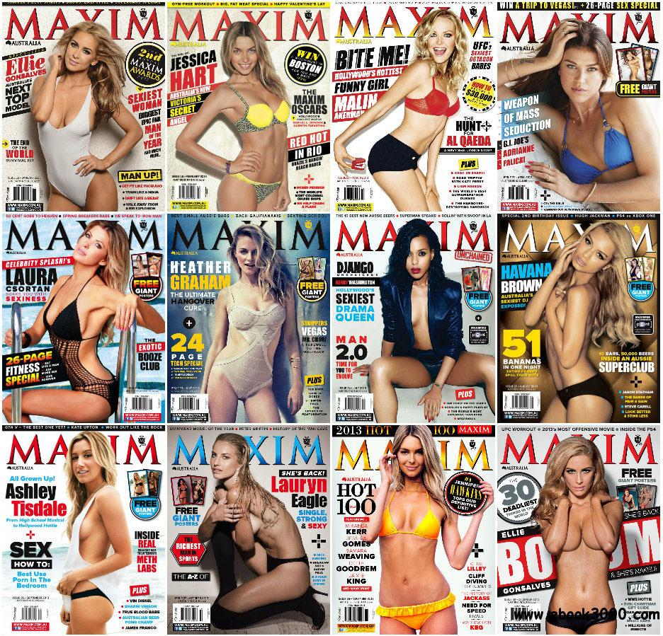 Maxim Australia - Full Year 2013 Issues Collection free download