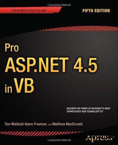 Pro ASP.NET 4.5 In VB, 5th edition free download