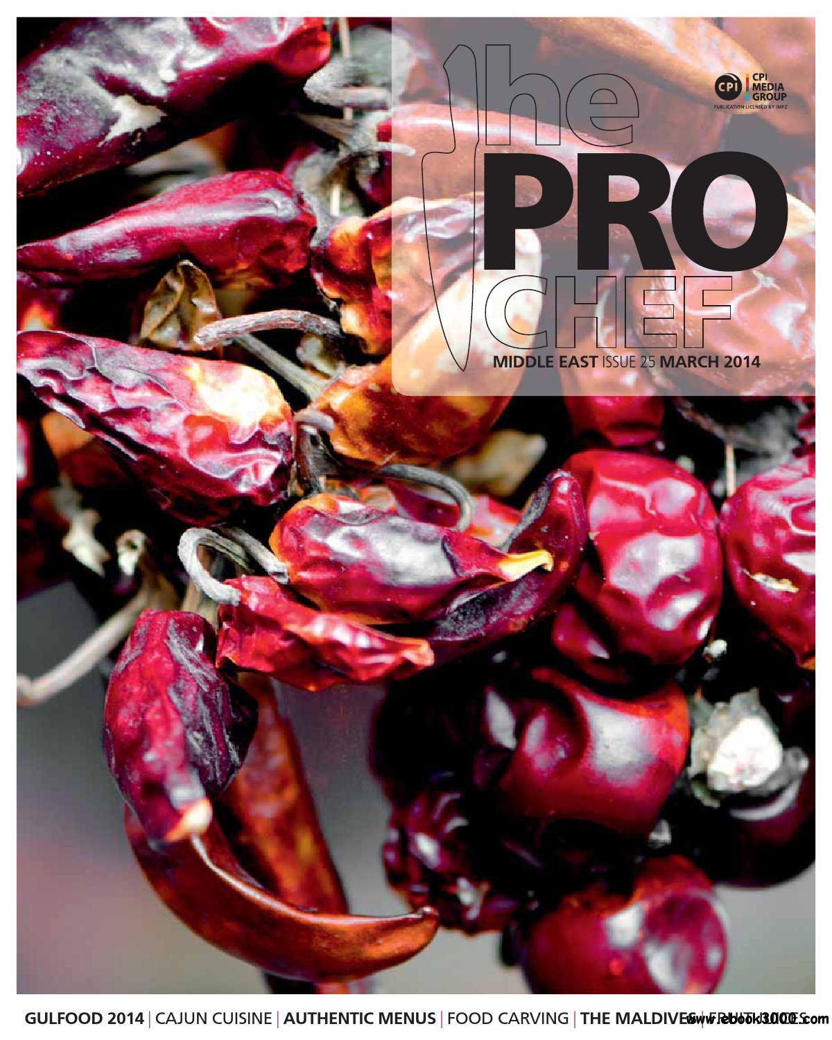 The Pro Chef Middle East - March 2014 free download