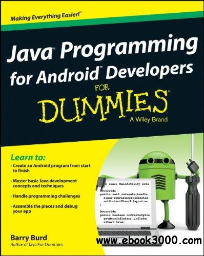 Java Programming for Android Developers For Dummies free download
