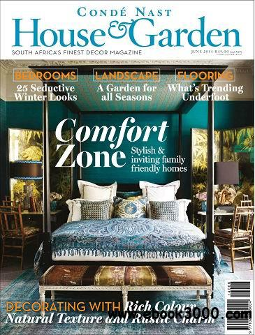 Conde Nast House & Garden Magazine June 2014 free download