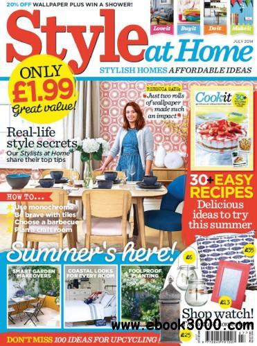 Style At Home UK - July 2014 free download