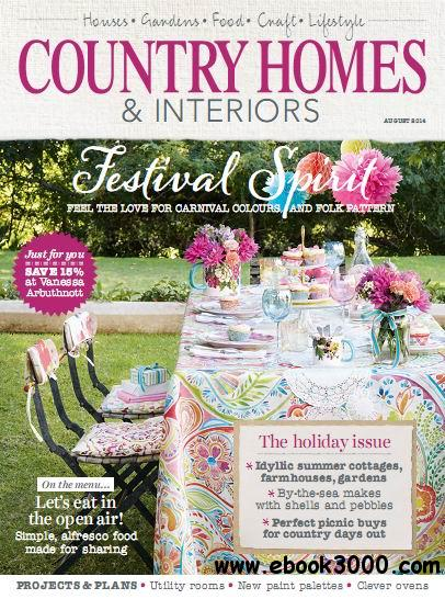 Country Homes & Interiors Magazine August 2014 free download
