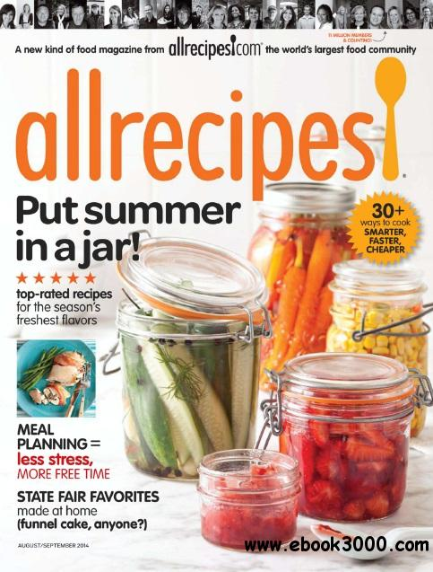 Allrecipes - August/September 2014 free download