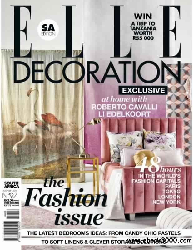 Elle Decoration South Africa - August-September 2014 free download