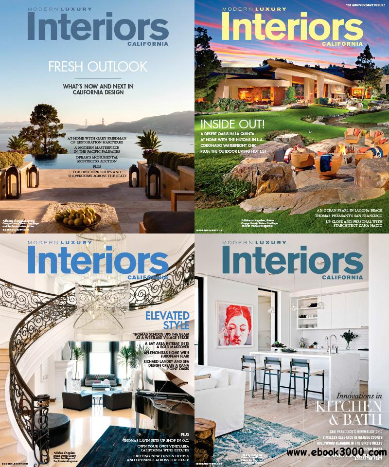 Modern Luxury Interiors California 2014 Full Year Collection free download