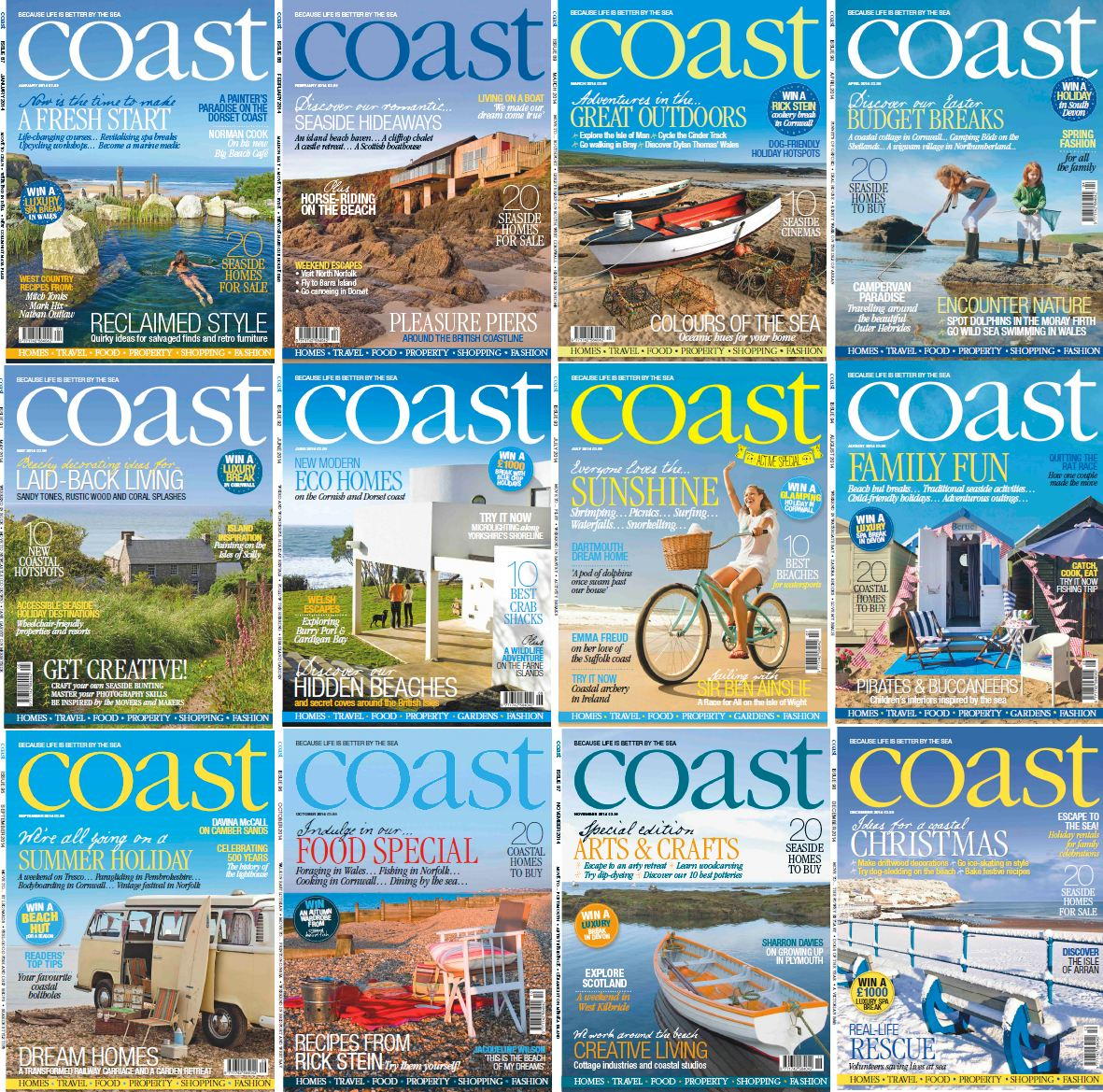 Coast Magazine - Full Year 2014 Issues Collection free download