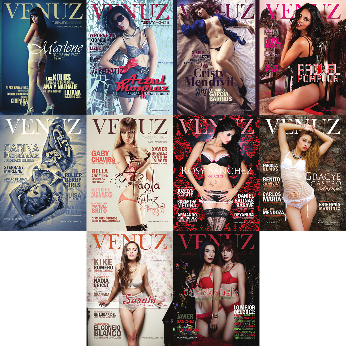 Venuz Magazine 2011-2012 Years Collection free download