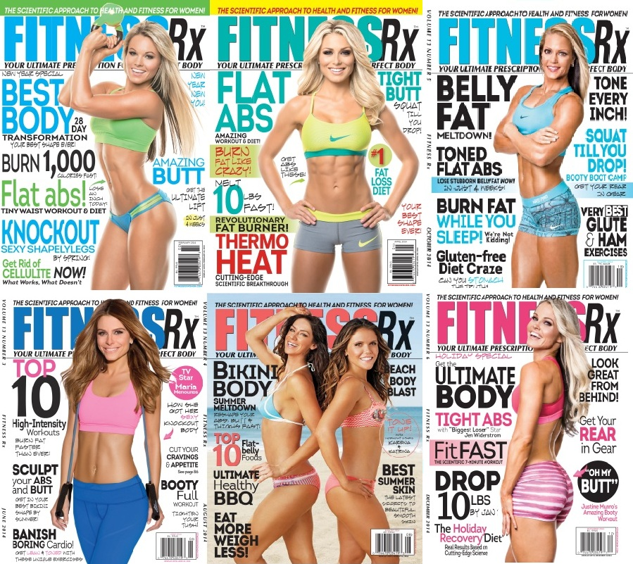 Fitness Rx for Women - Full Year 2014 Issues Collection free download