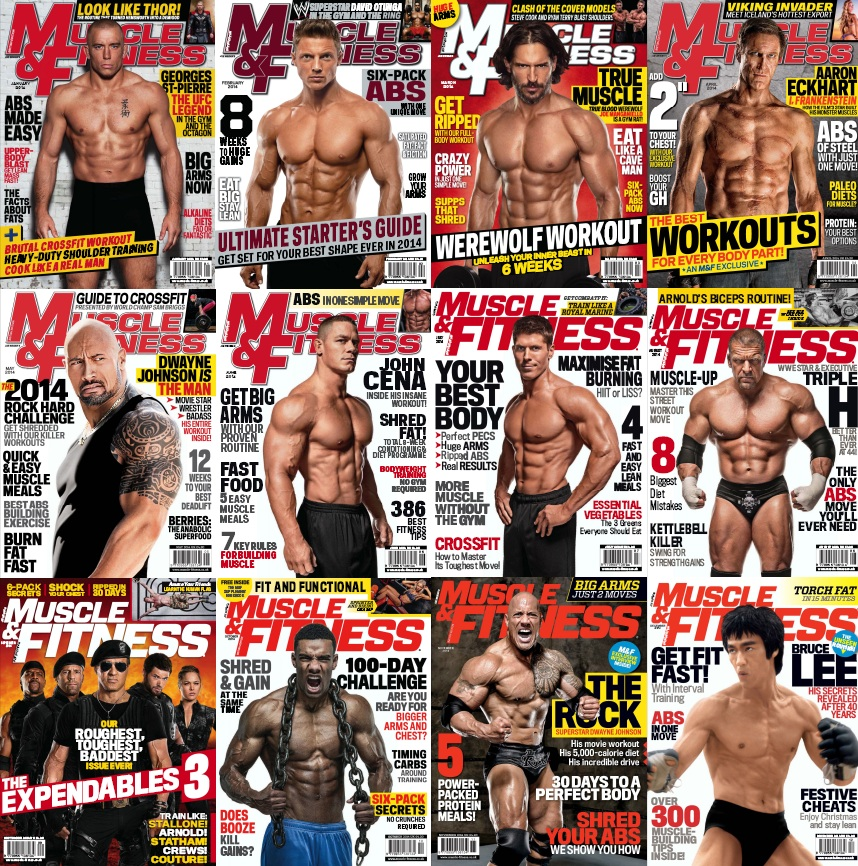 Muscle & Fitness UK - Full Year 2014 Issues Collection (All True PDF) free download