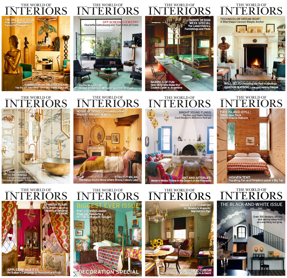 The World of Interiors Magazine - Full Year 2014 Issues Collection free download