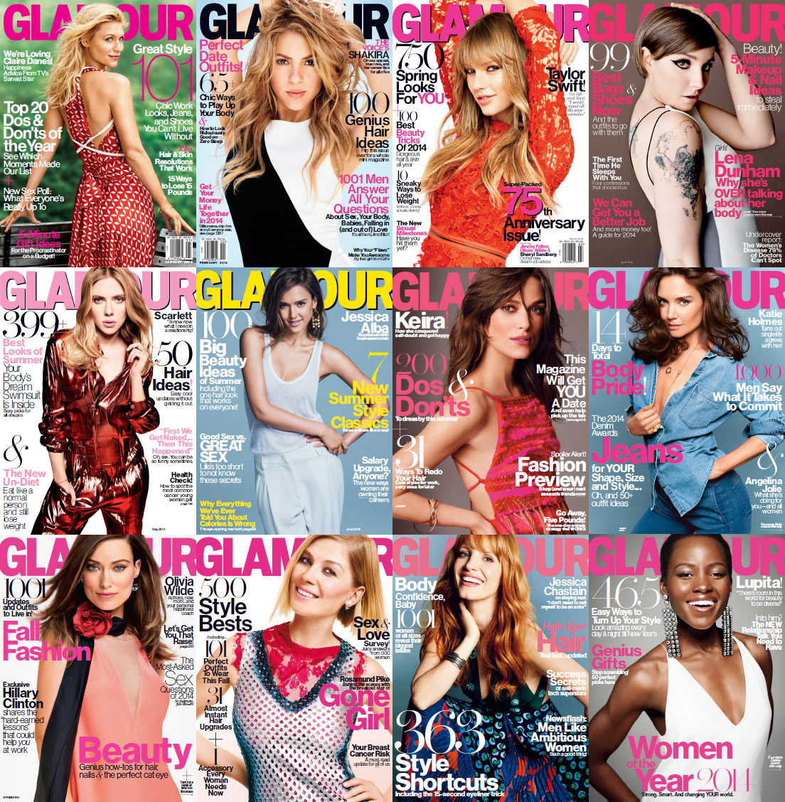Glamour USA Magazine - Full Year 2014 Issues Collection free download