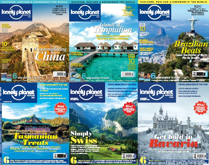 Lonely Planet Asia - Full Year 2014 Issues Collection free download