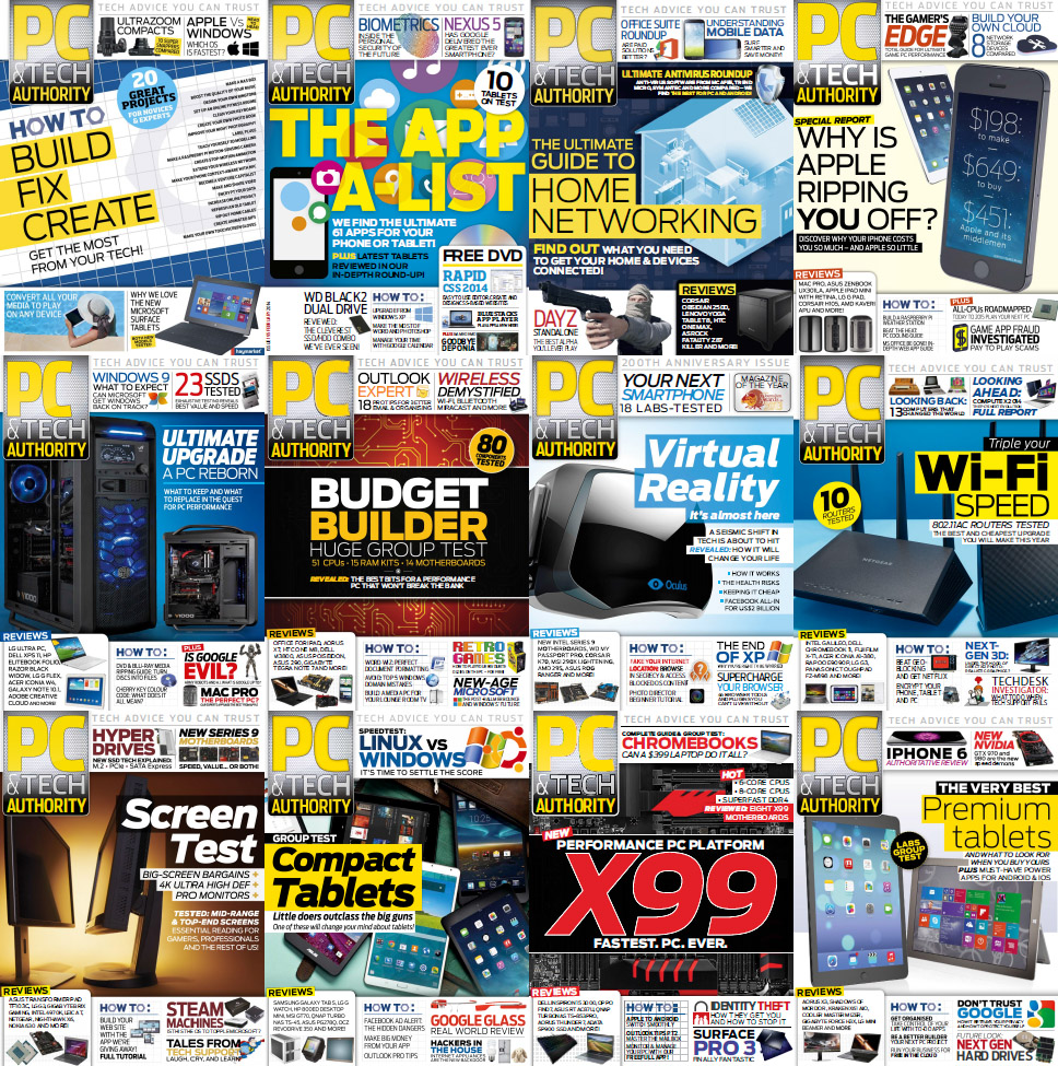 PC & Tech Authority Magazine - Full Year 2014 Issues Collection free download