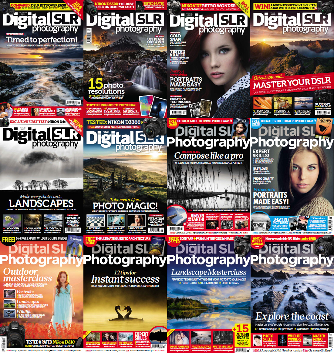 Digital SLR Photography Magazine - Full Year 2014 Issues Collection free download