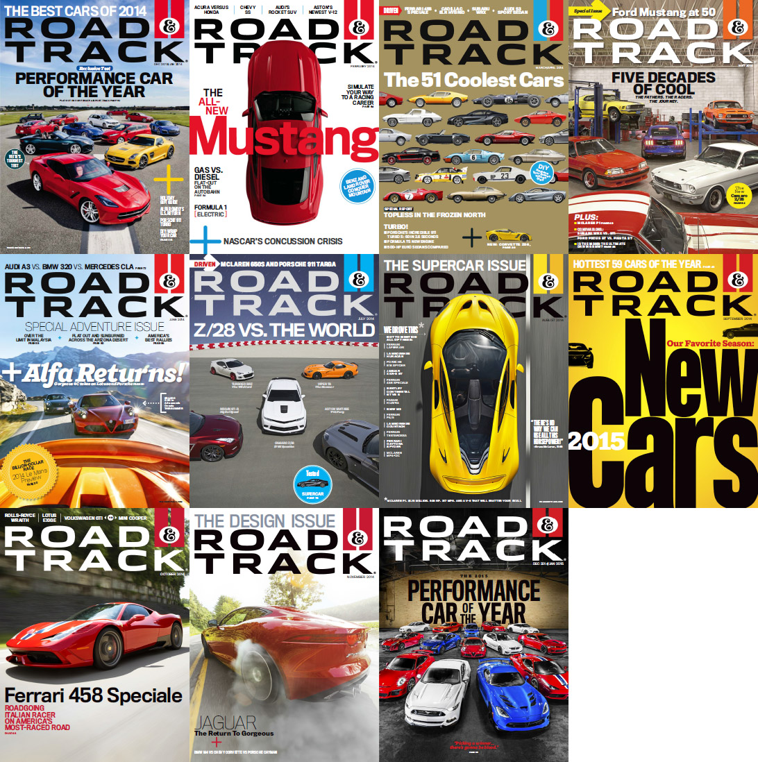 Road & Track Magazine - Full Year 2014 Issues Collection free download