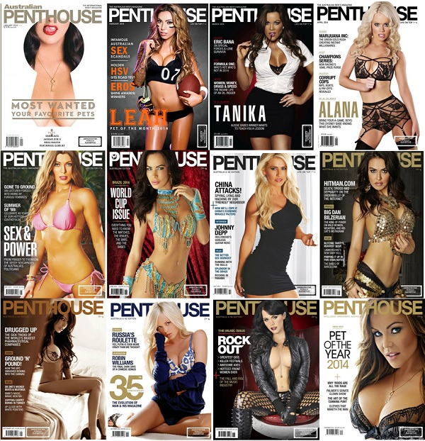 Penthouse Australia - Full Year 2014 Collection free download
