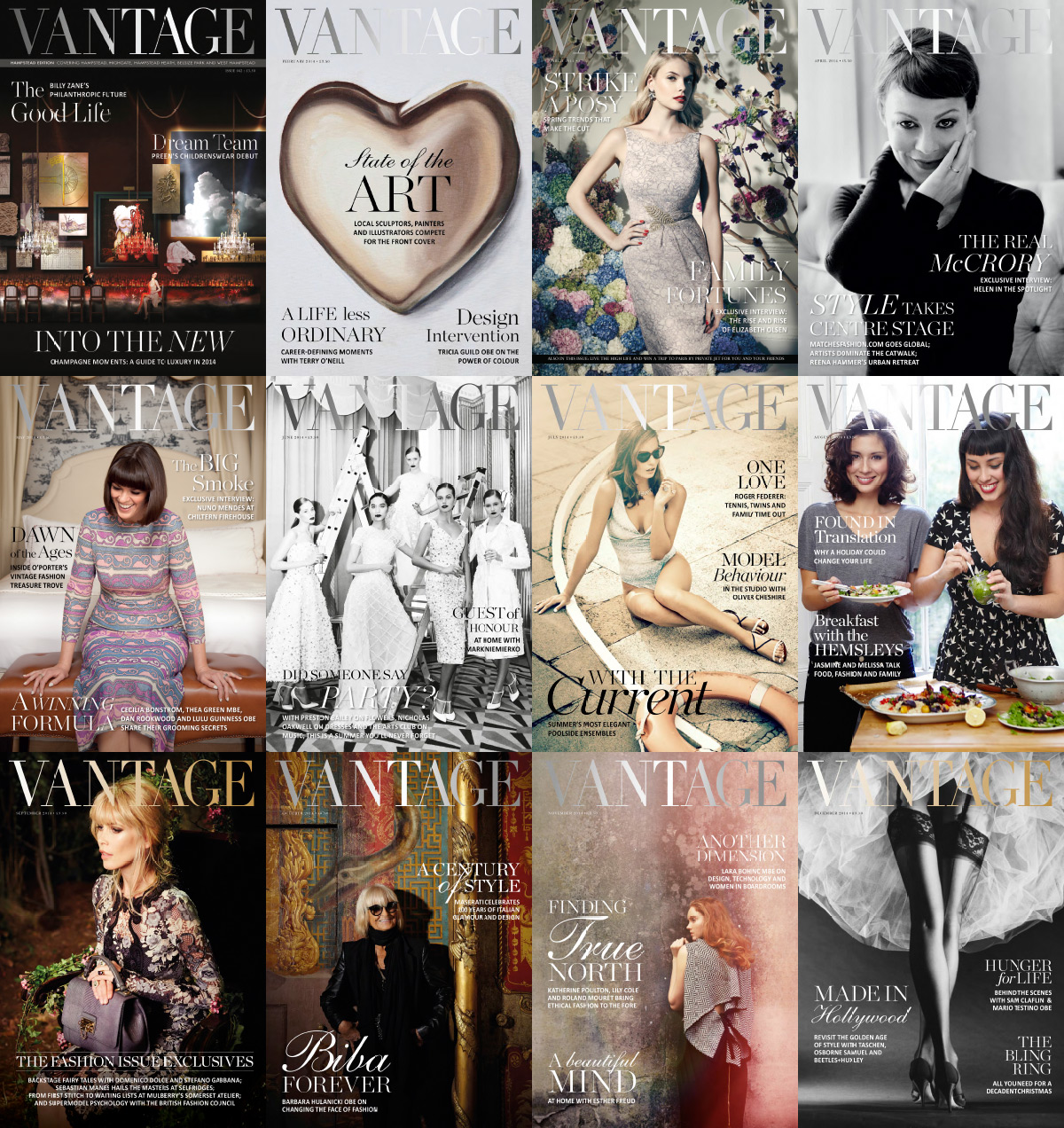 Vantage Magazine 2014 Full Year Collection free download