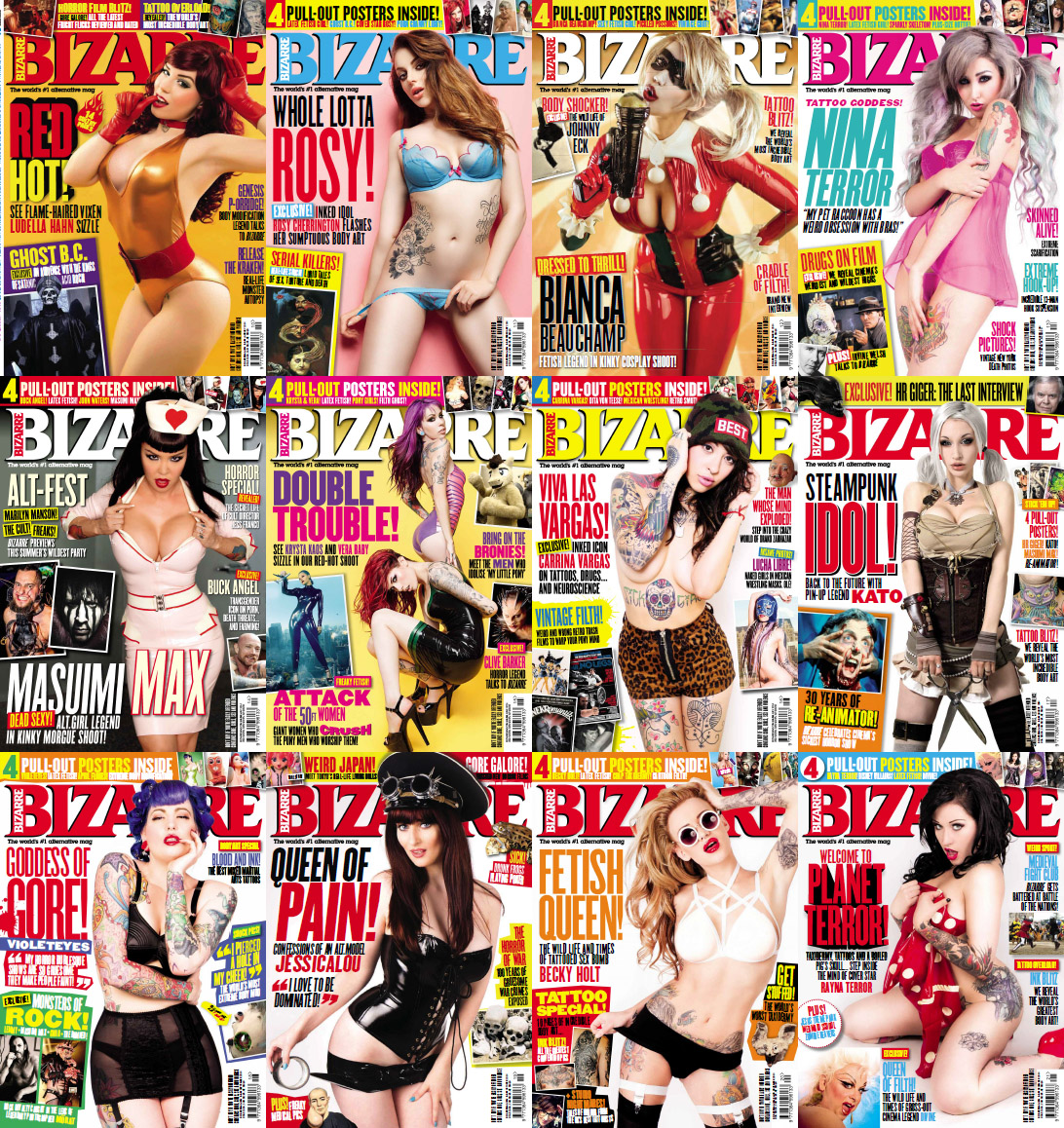 Bizarre UK Magazine - Full Year 2014 Issues Collection free download