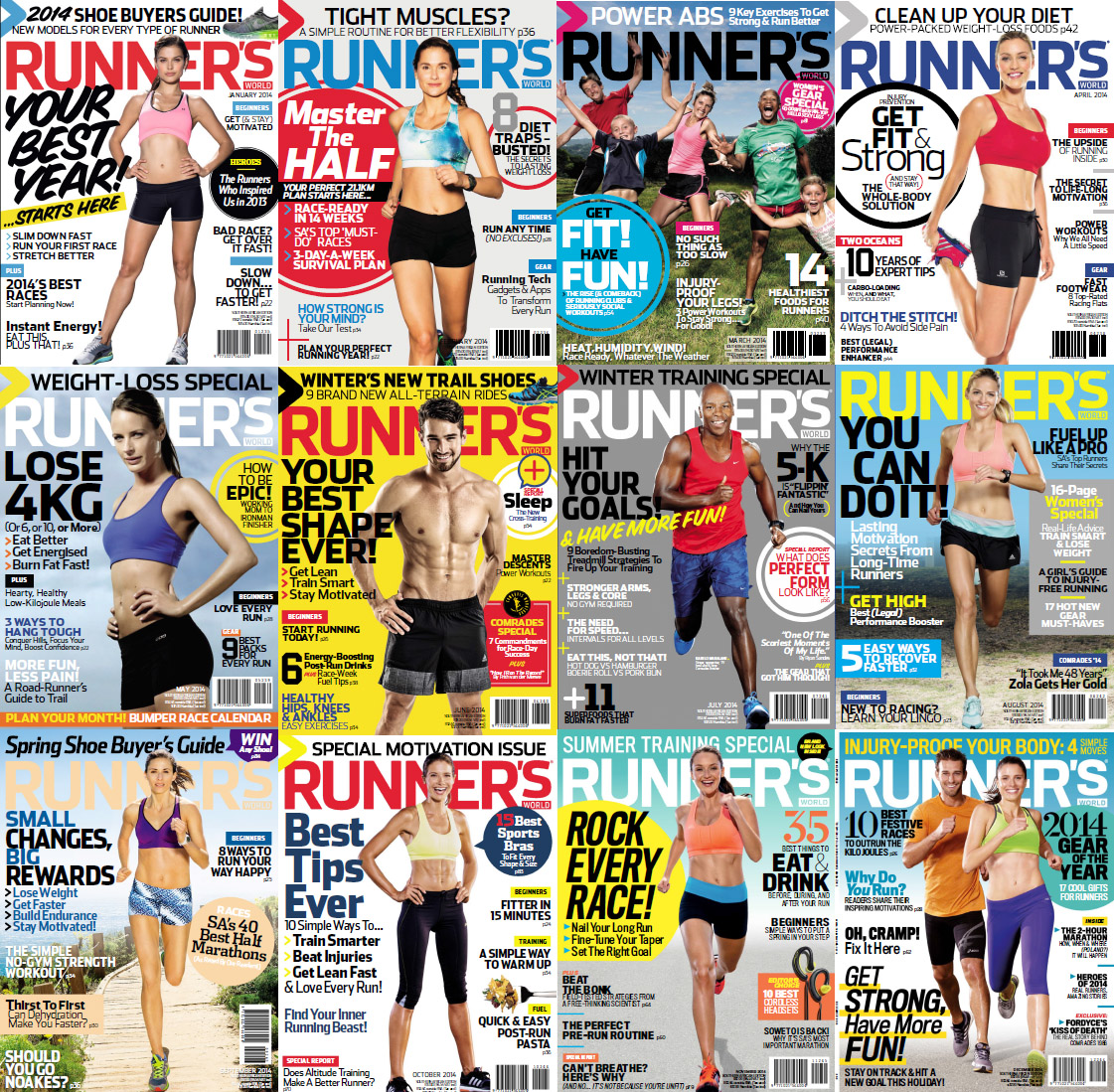 Runner's World South Africa Magazine - 2014 Full Year Issues Collection free download