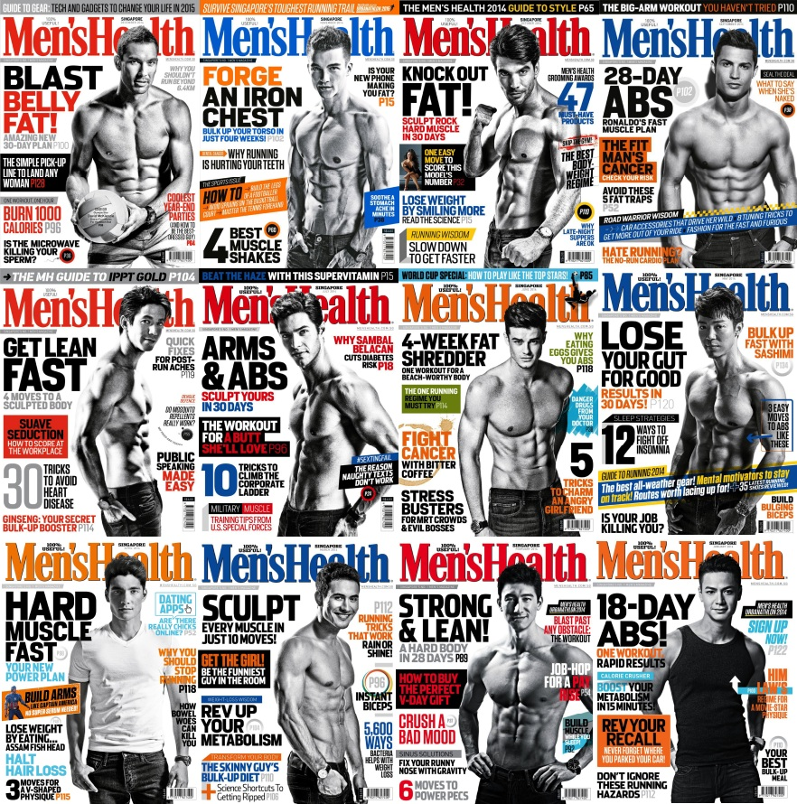 Men's Health Singapore Magazine - 2014 Full Year Issues Collection free download