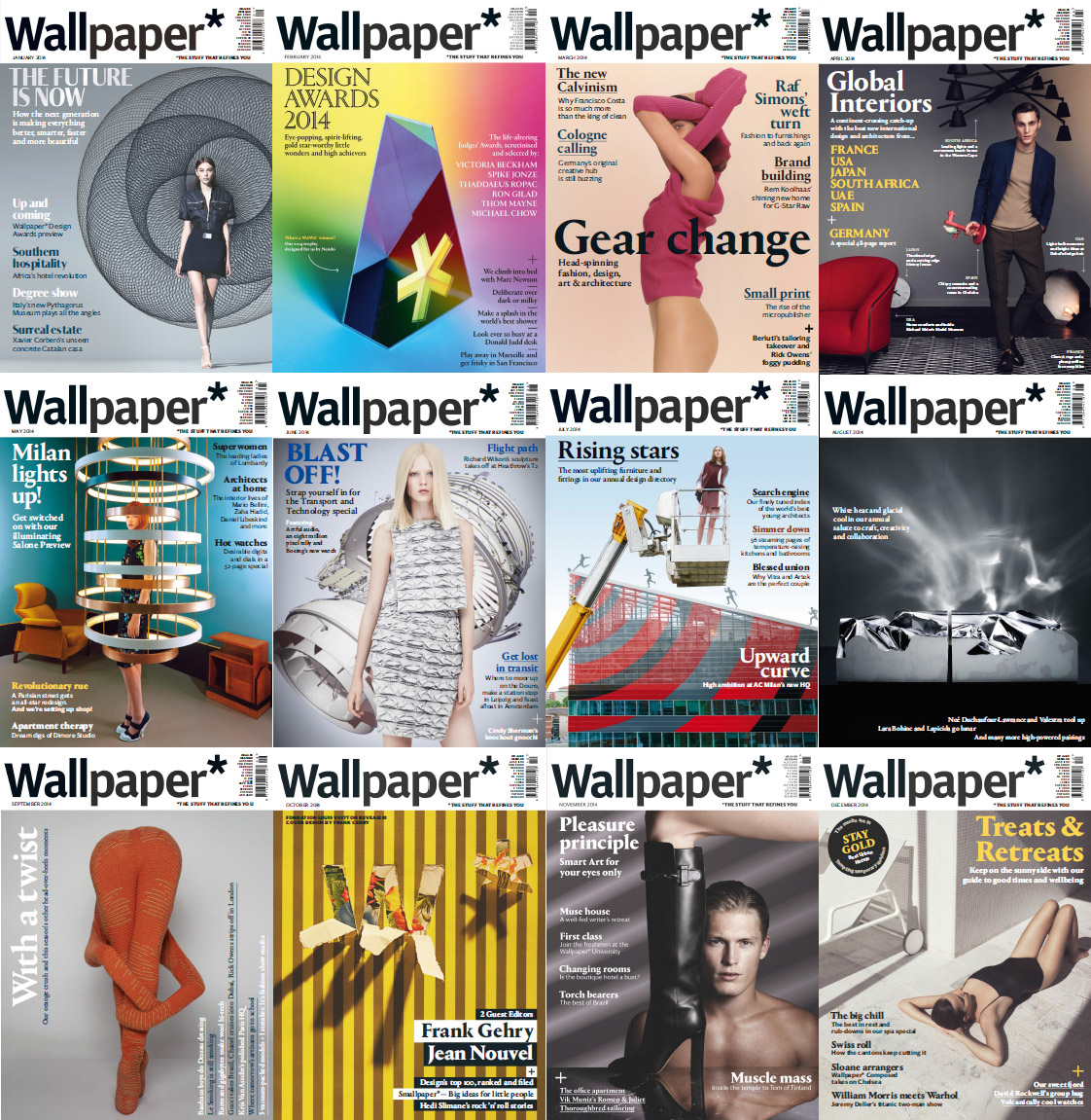 Wallpaper Magazine - 2014 Full Year Issues Collection free download
