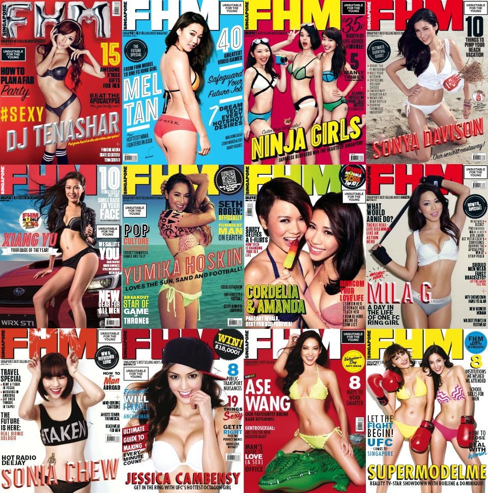 FHM Singapore - 2014 Full Year Issues Collection free download
