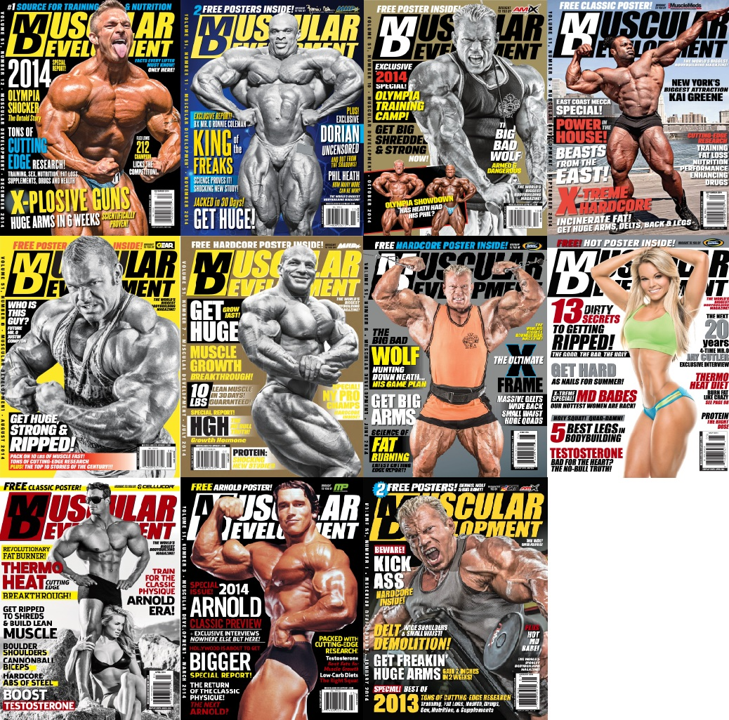 Muscular Development - 2014 Full Year Issues Collection free download