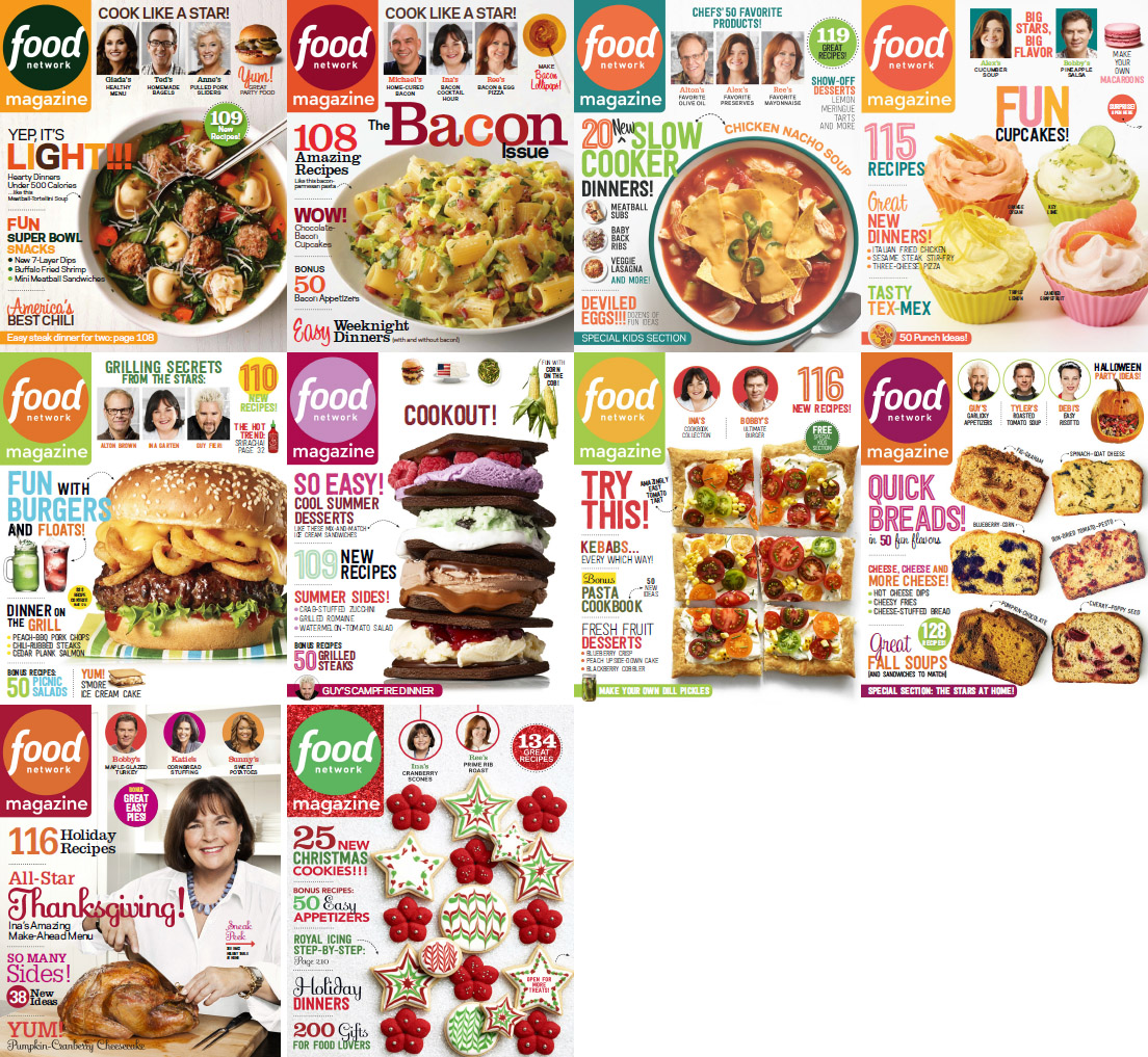 Food Network Magazine - 2014 Full Year Issues Collection free download