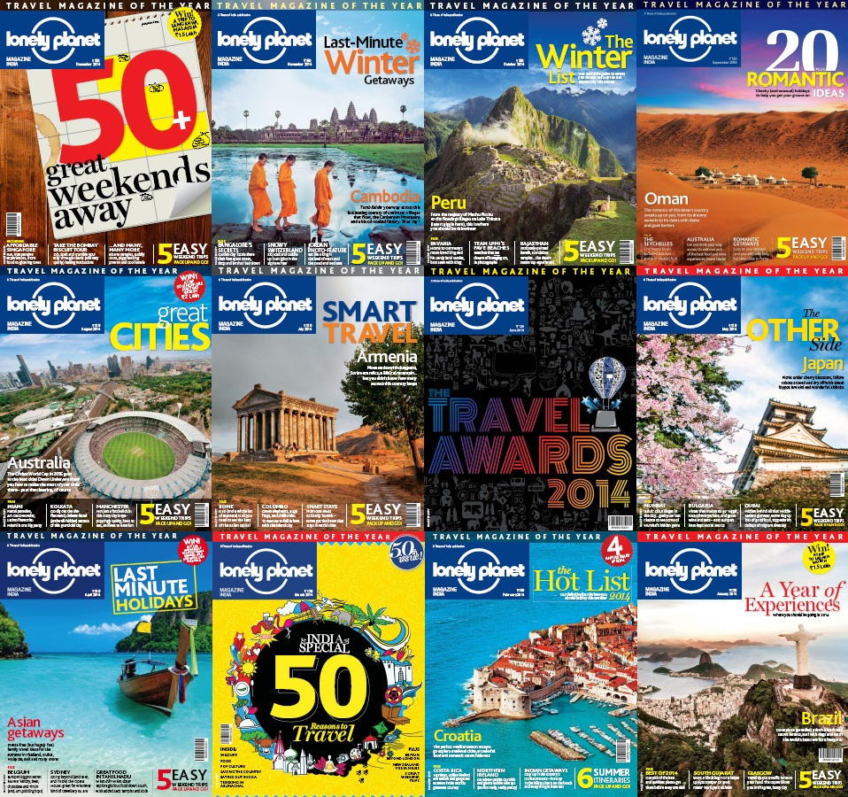 Lonely Planet Magazine India - 2014 Full Year Issues Collection free download