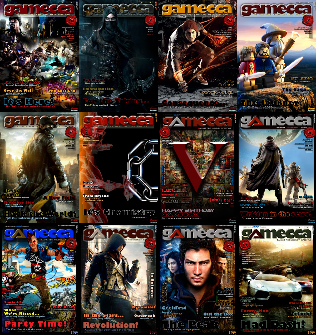Gamecca Magazine 2014 Full Year Collection free download