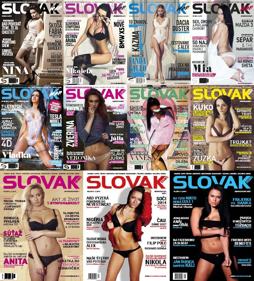 SLOVAK MAN - 2014 Full Year Issues Collection free download